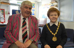 The Mayor with one of the School Council.